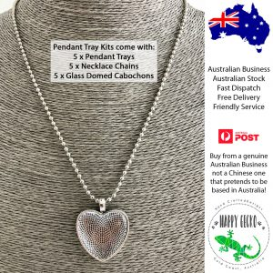 DIY Heart Pendant Jewellery Making Kits